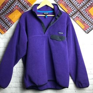 Patagonia synchilla fleece purple pullover